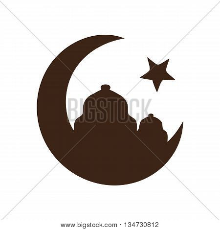 Star and crescent - symbol of Islam icon