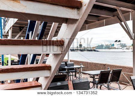 Cruise Ship Anchored