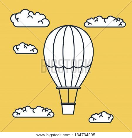 balloon air flying  design, vector illustration eps10 graphic