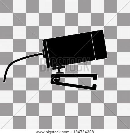 Vector black Webcam icon on a transparent background