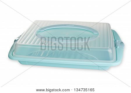 Plastic Food container isolated on white background