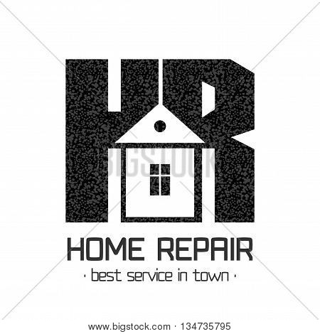 House repair vector logo. House remodeling concept