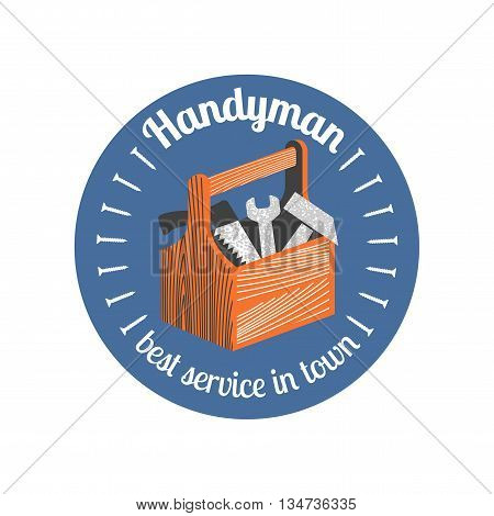 Home repair and remodel vector logo. House rebuilding concept