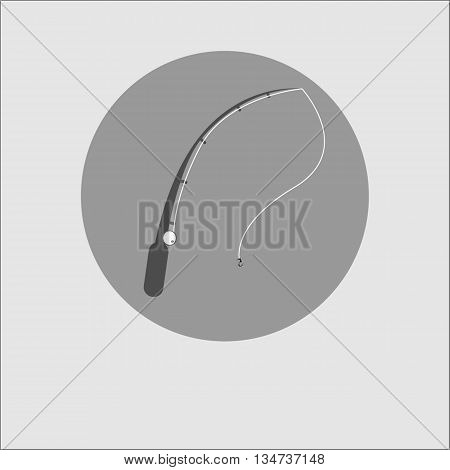 Vector moder icon illustration rod fishing fishing