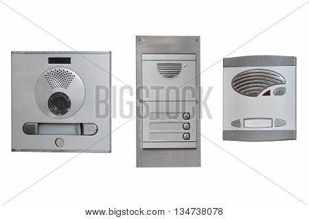 image of intercom isolated on white background