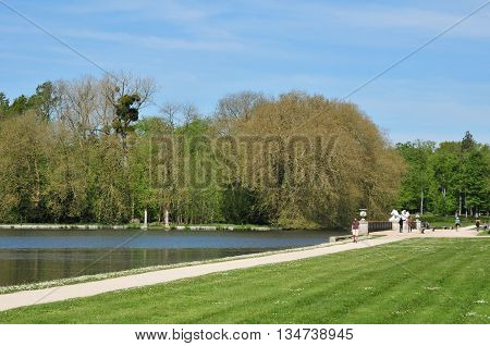 Rambouillet France - mai 6 2016 : the castle park