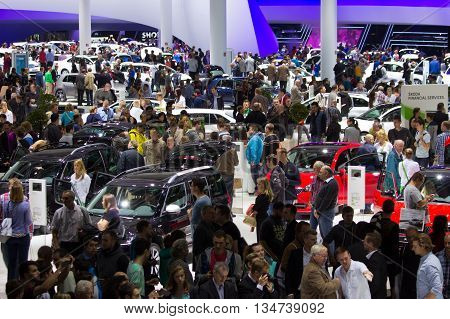 Visitors At The Iaa Motor Show