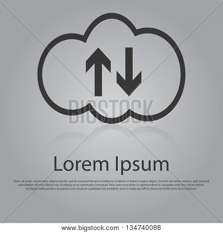 Vector Icon Of Cloud Computing Concept