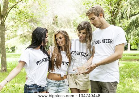 Group Of Teenagers Volunteering Disappointed By Any Donation