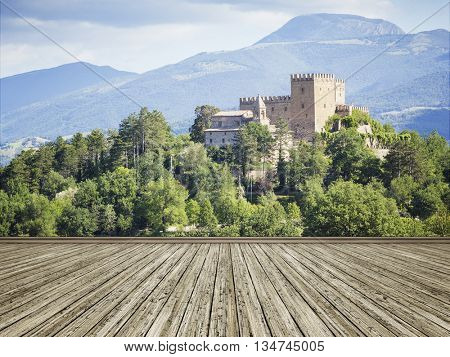 An image of a photo mural italy castle