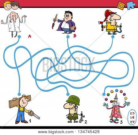 Maze Task Activity For Children