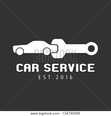 Car service auto parts vector logo. Car concept