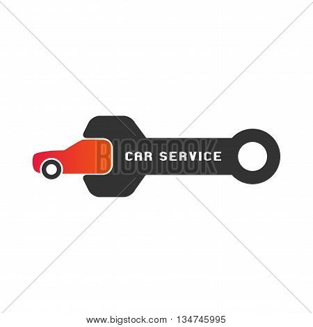 Car service auto parts vector logo. Car repair concept