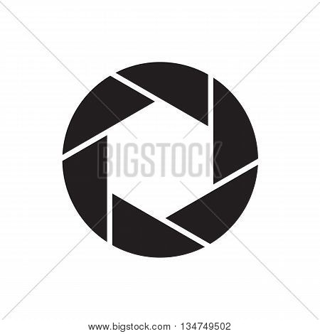 The Diaphragm Icon. Aperture Symbol. Flat Illustration