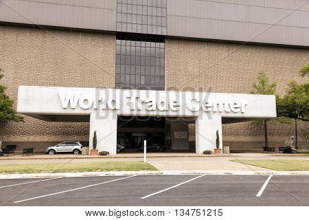 DALLAS USA - APR 9: The World Trade Center in the city of Dallas April 9 2016 in Dallas Texas United States