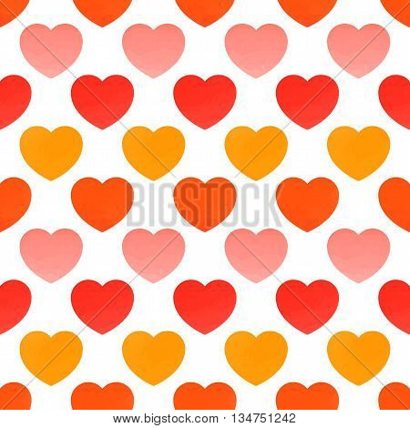 Juicy hearts. Seamless pattern with hearts. Valentines day background.
