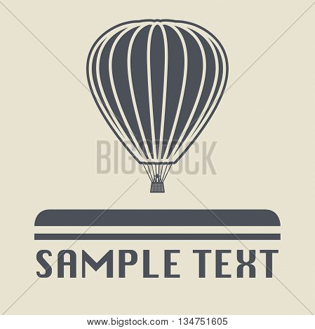 Abstract Hot air balloon icon or sign, vector illustration