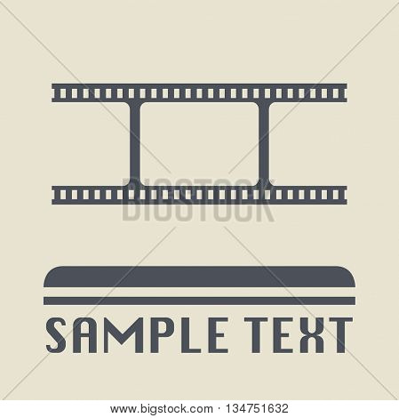 Abstract Blank film icon or sign, vector illustration