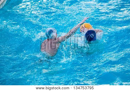The Boys Play In Water Polo.