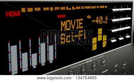 home cinema multi system multimedia 3d illustration