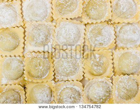 Traditional Italian Floured Ravioli