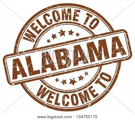 welcome to Alabama stamp. welcome to Alabama.
