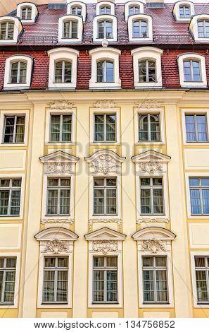 Rebuilt Buildings In Dresden