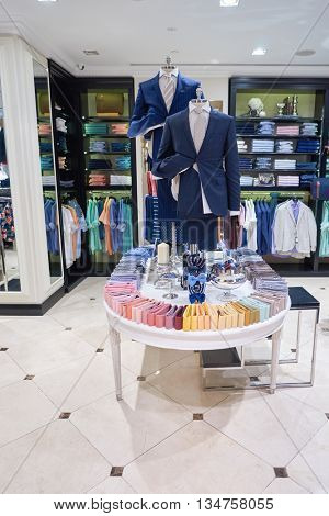 KUALA LUMPUR, MALAYSIA - MAY 09, 2016: inside of the store at Suria KLCC. Suria KLCC is a shopping mall is located in the Kuala Lumpur City Centre district.