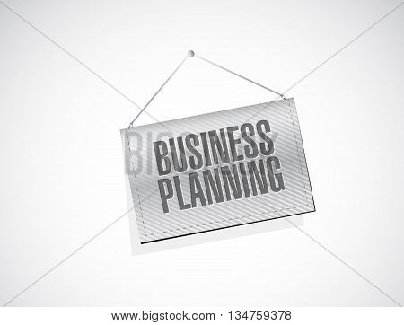 Business Planning Hanging Banner Sign Concept