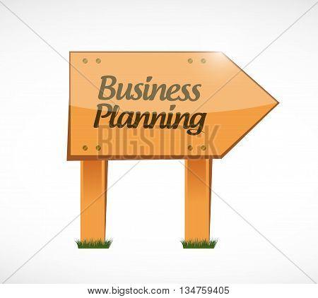Business Planning Wood Sign Concept Illustration