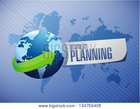 Business Planning Global Sign Concept