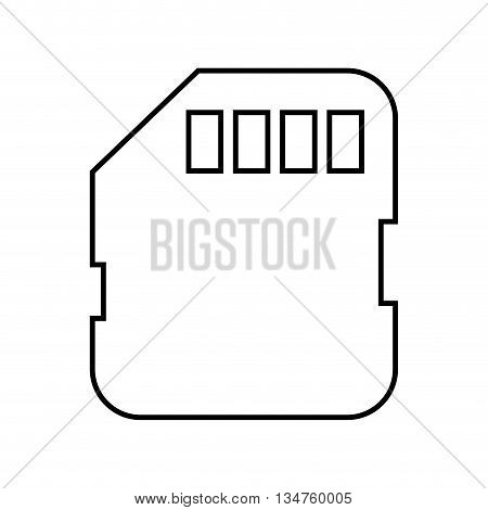 memory card sd isolated icon design, vector illustration eps10 graphic