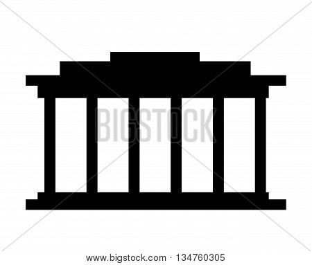 court building isolated icon design, vector illustration eps10 graphic