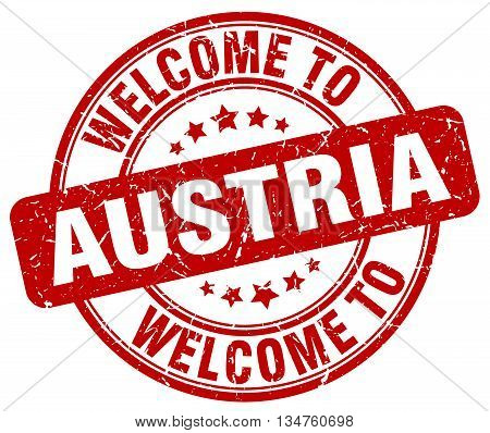 welcome to Austria stamp. welcome to Austria.