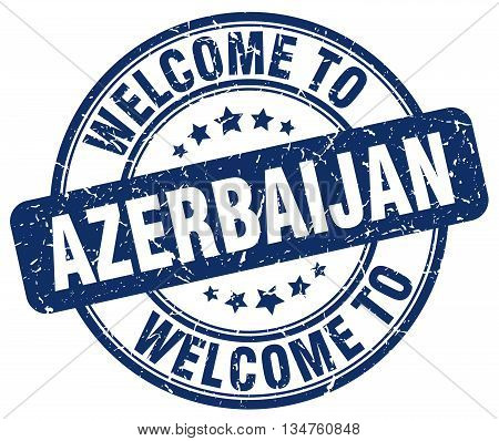 welcome to Azerbaijan stamp. welcome to Azerbaijan.