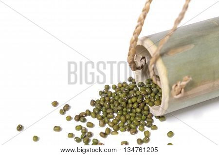 Mung beans isolated on white background,Beans isolate