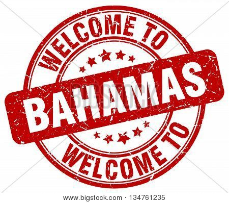 welcome to Bahamas stamp. welcome to Bahamas.