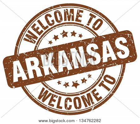 welcome to Arkansas stamp. welcome to Arkansas.