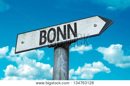 Bonn direction sign in a concept image