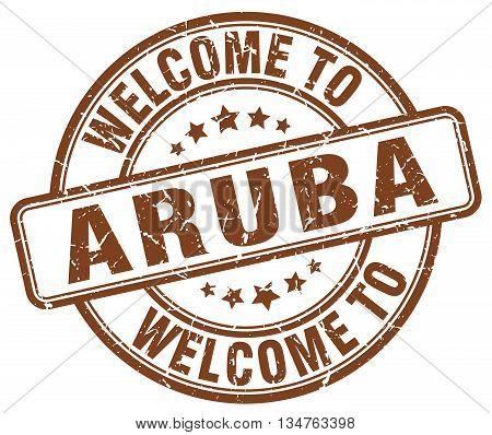 Welcome To Aruba Stamp. Welcome To Aruba.