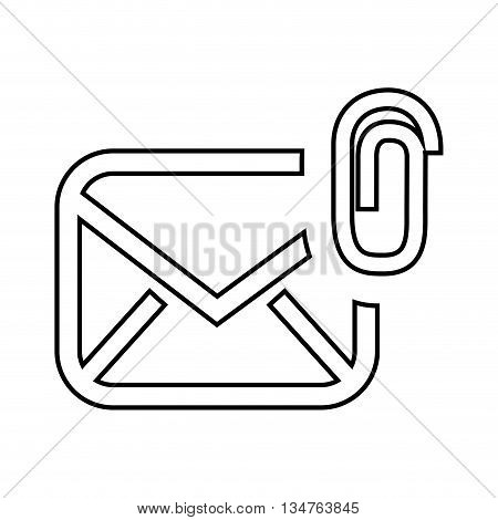 attach file email setup isolated icon design, vector illustration eps10 graphic