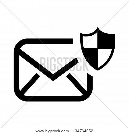 security email setup isolated icon design, vector illustration eps10 graphic