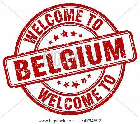 welcome to Belgium stamp. welcome to Belgium.