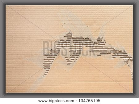 Brown crumpled paper with texture and pattern for design, Clipping path