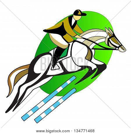 Riding sport. Man sitting on the horse