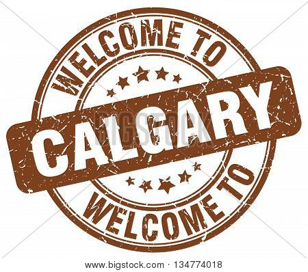 welcome to Calgary stamp. welcome to Calgary. vector