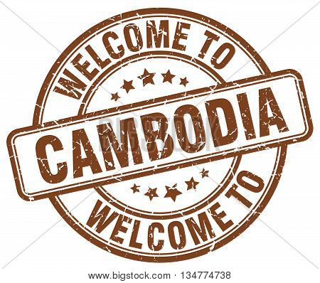 welcome to Cambodia stamp. welcome to Cambodia.