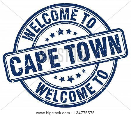 welcome to Cape Town stamp. welcome to Cape Town.