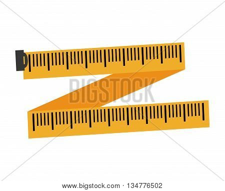 Instrument of measurement concept represented by meter   illustration, flat and isolated design
