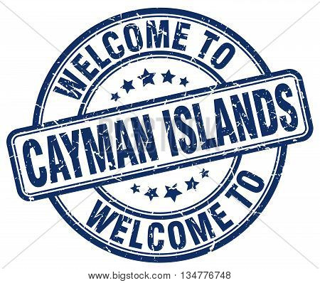 welcome to Cayman Islands stamp. welcome to Cayman Islands. vector